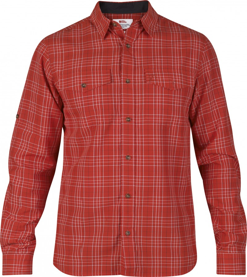 FjallRaven Abisko Cool Shirt LS Red-30