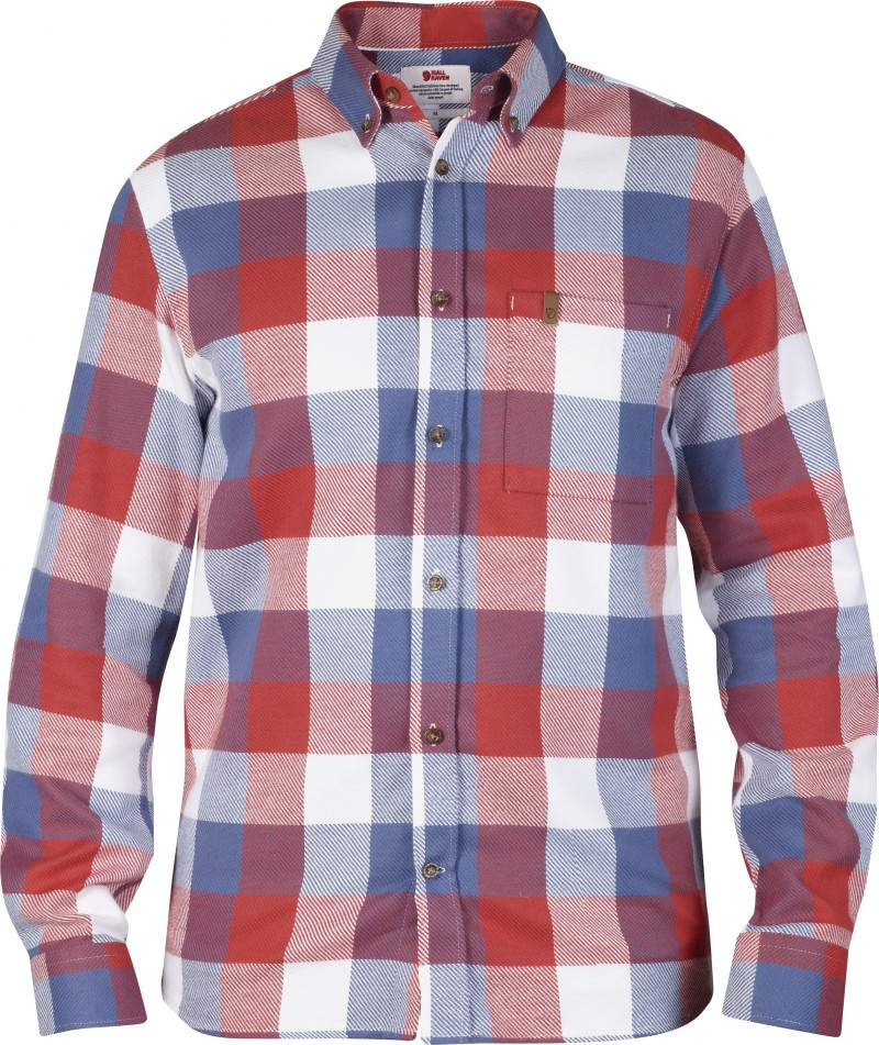 FjallRaven Övik Big Check Shirt LS Deep Red-30