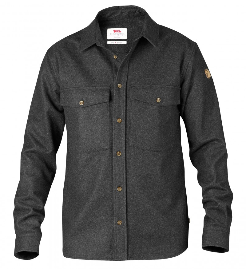 FjallRaven Övik Wool Shirt Dark Grey-30