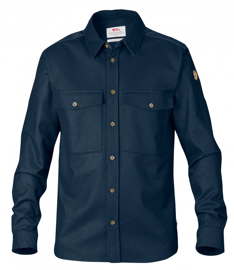 FjallRaven Övik Wool Shirt Navy-30