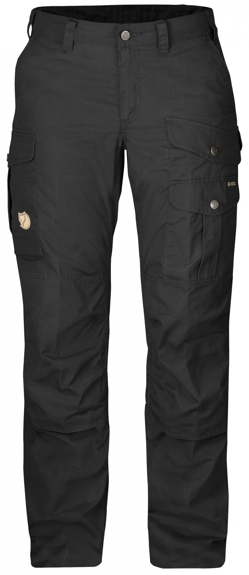 FjallRaven - Barents Pro W. Black-Black - Travel Pants - 38