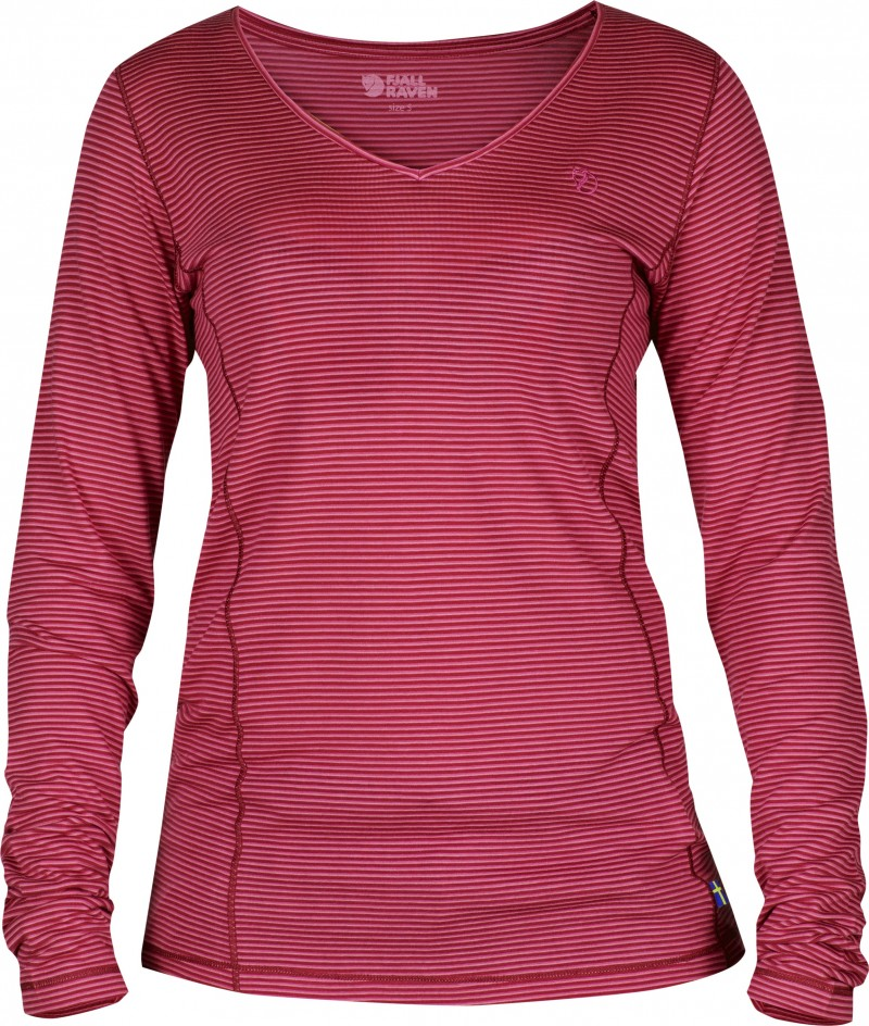 FjallRaven Abisko Cool Longsleeve W. Ox Red-30