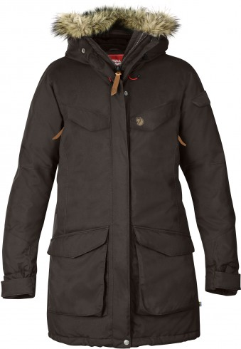 FjallRaven Nuuk Parka Black Brown-30