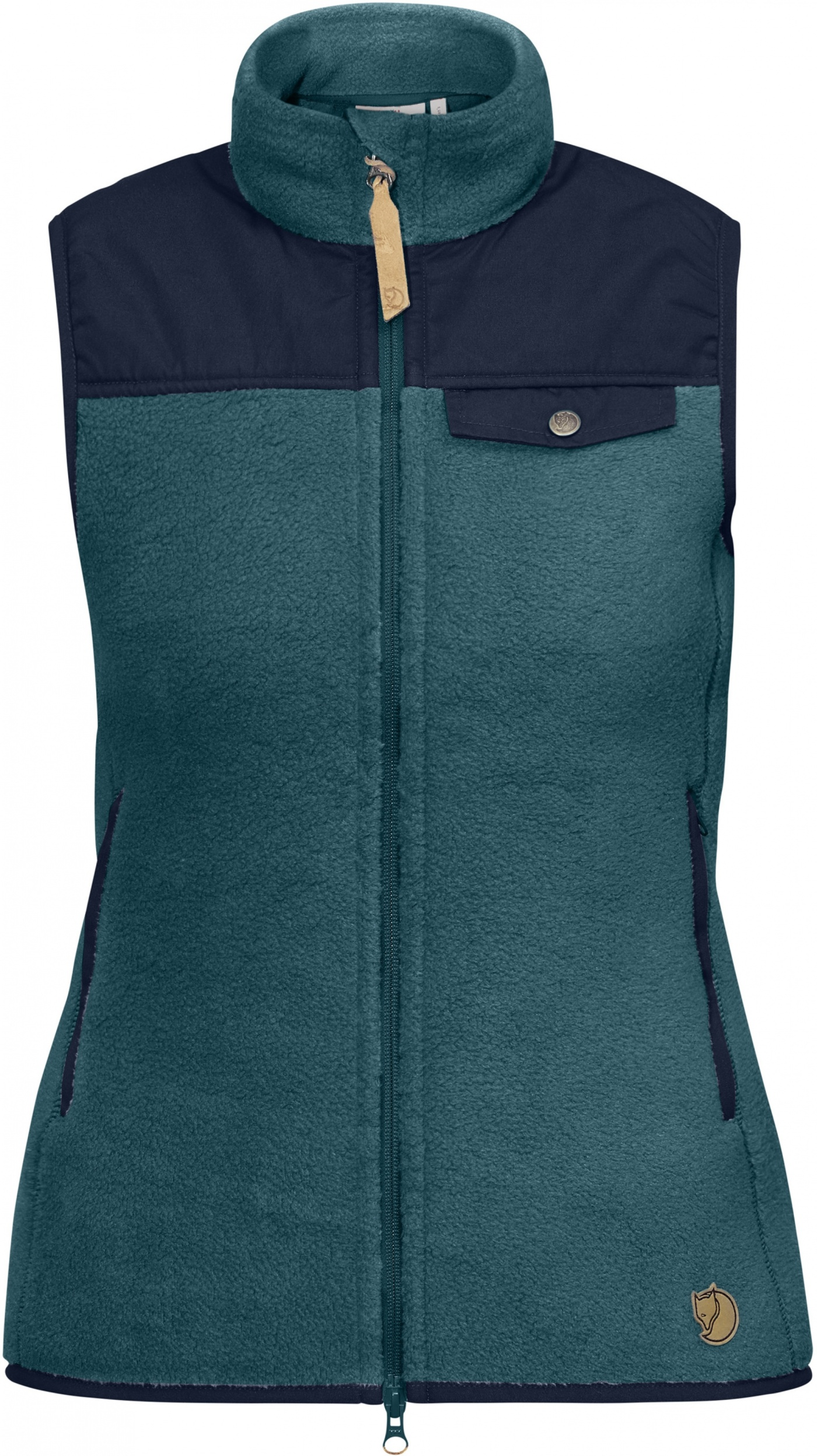 FjallRaven Singi Fleece Vest W Glacier Green-Dark Navy-30