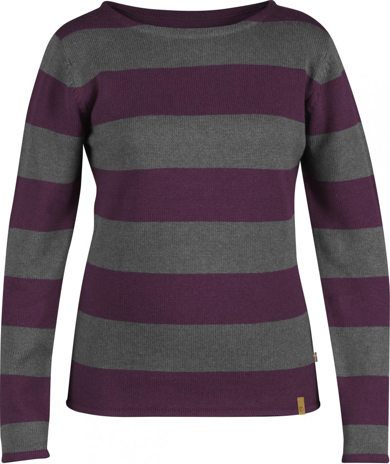 FjallRaven Kiruna Knit Striped Sweater W. Wild Ginger-30