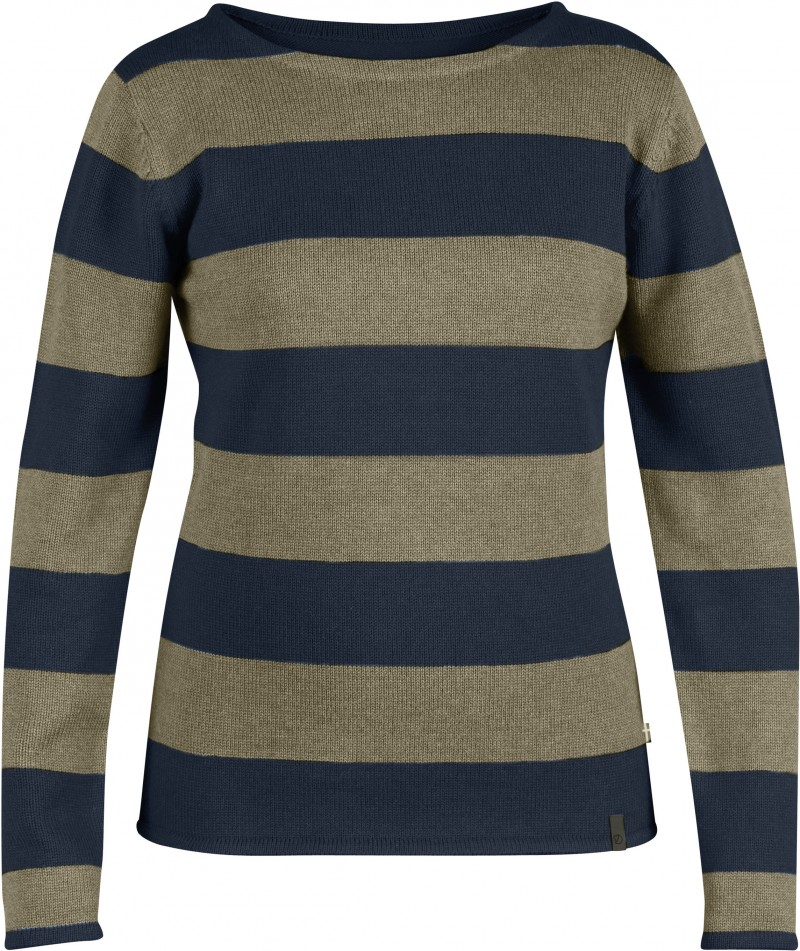FjallRaven Kiruna Knit Striped Sweater W. Dark Navy-30