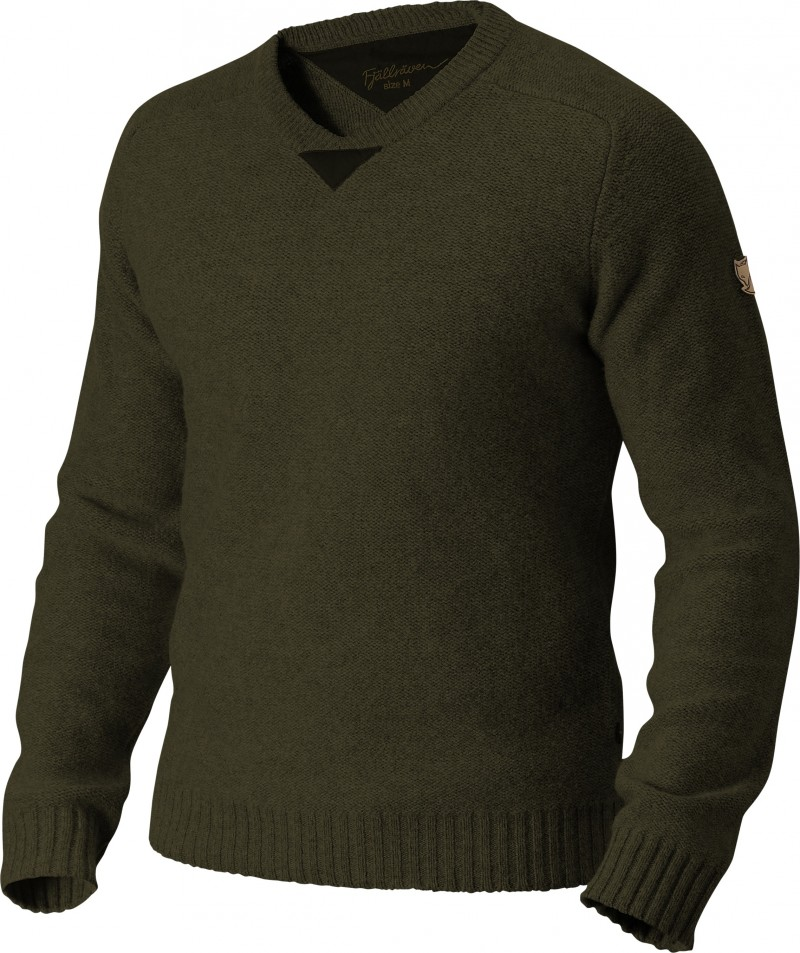 FjallRaven Woods Sweater Dark Olive-30