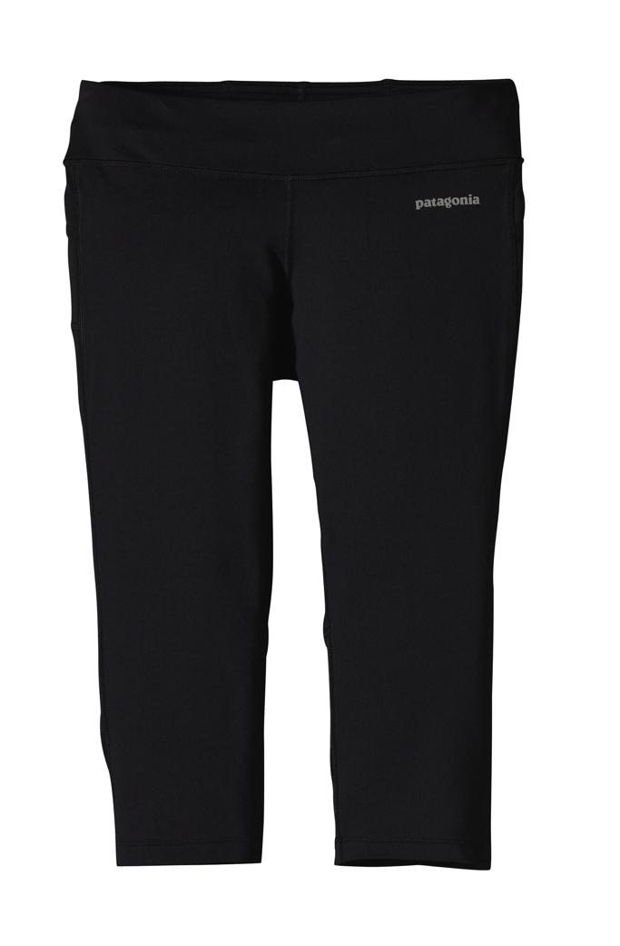 Patagonia - Velocity Running Capris Black - Yoga Pants -