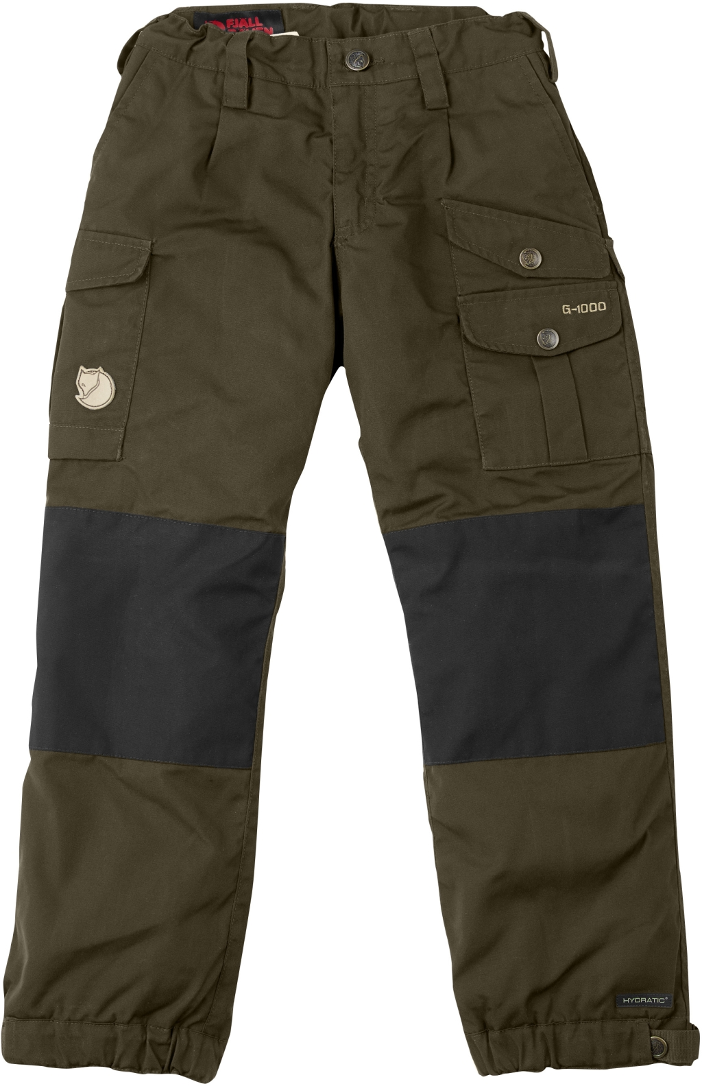 FjallRaven Kids Vidda Padded Trousers Dark Olive-30