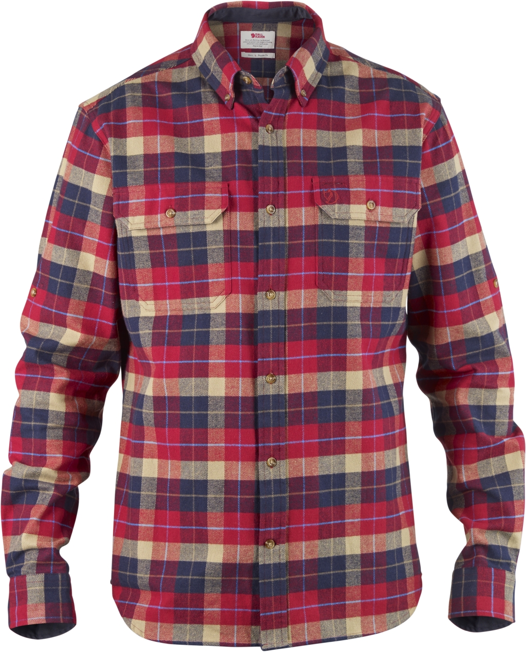 FjallRaven Sarek Heavy Flannel Shirt Deep Red-30