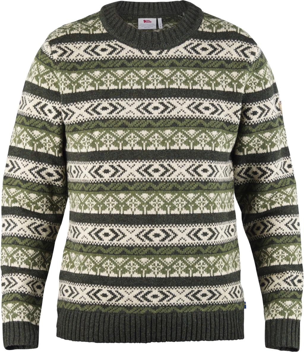 FjallRaven Ovik Folk Knit Sweater Dark Olive-30