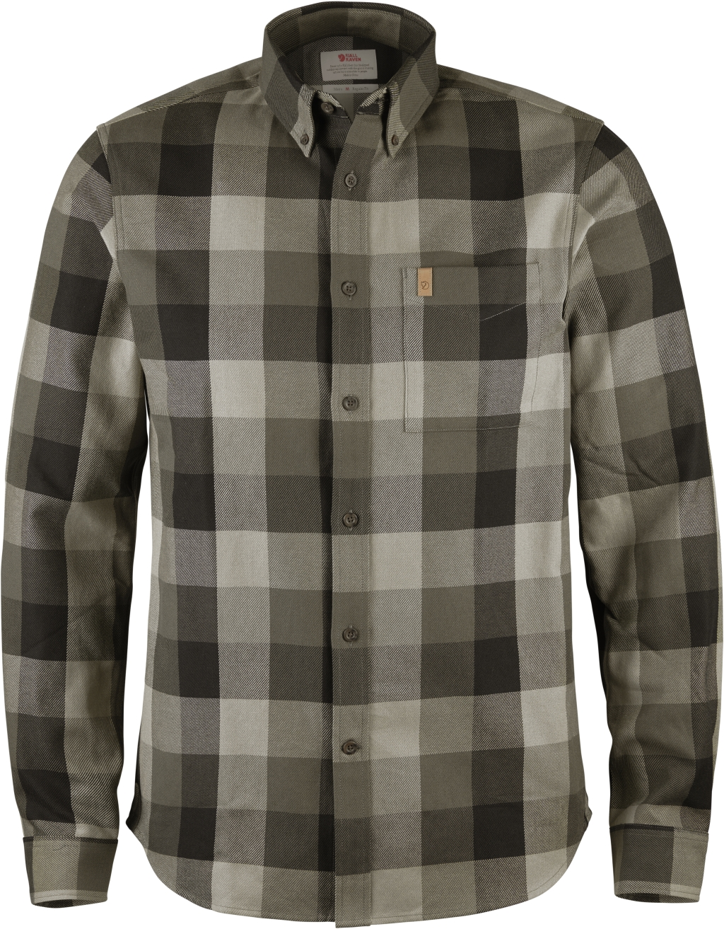 FjallRaven Ovik Big Check Shirt LS Black-30