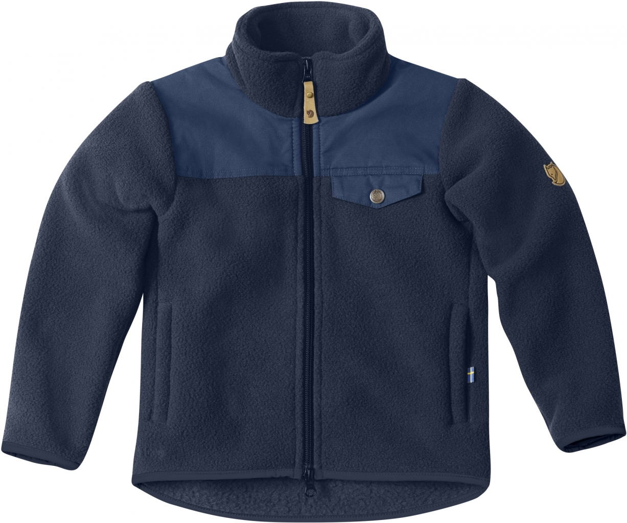 FjallRaven Kids Sarek Fleece Jacket Dark Navy-30