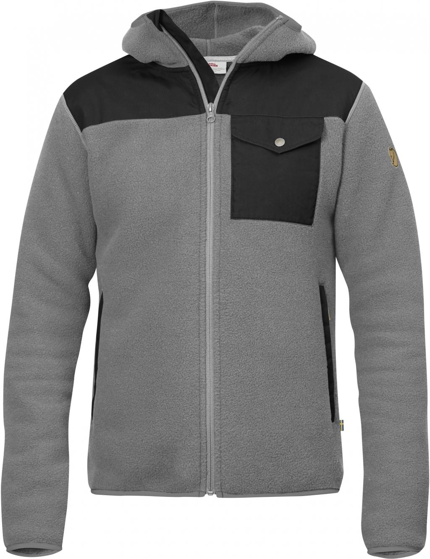 FjallRaven Sarek Fleece Hoodie Grey-30