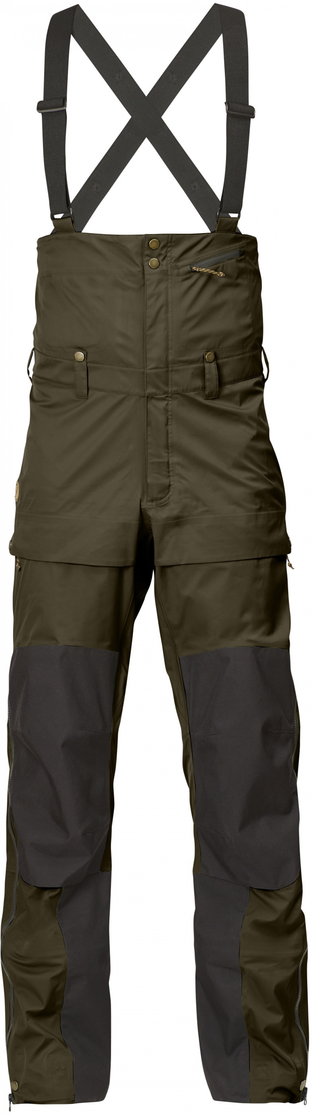 FjallRaven Keb Eco-Shell Bib Trousers Dark Olive-30