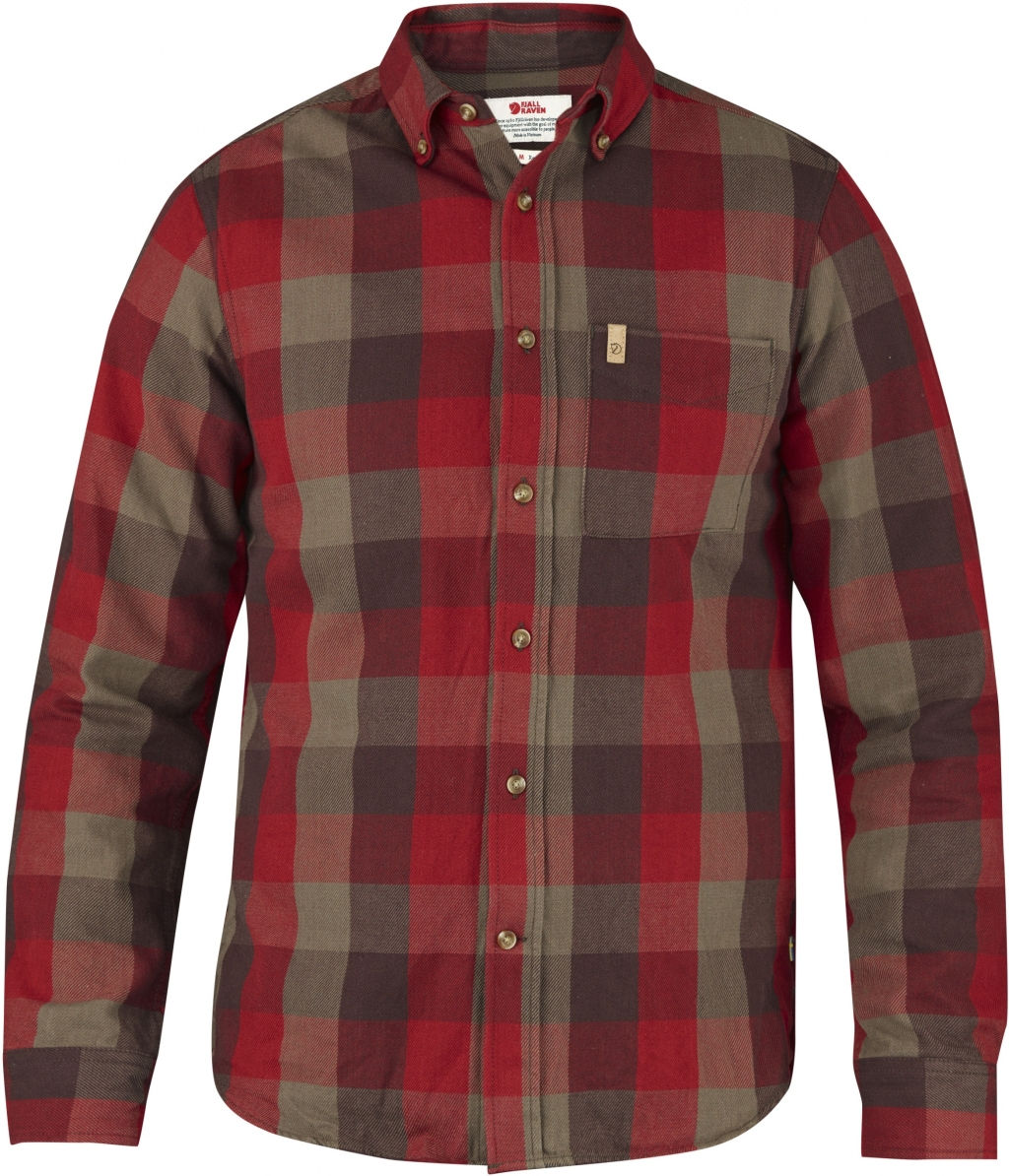 FjallRaven Ovik Big Check Shirt LS Burnt Red-30