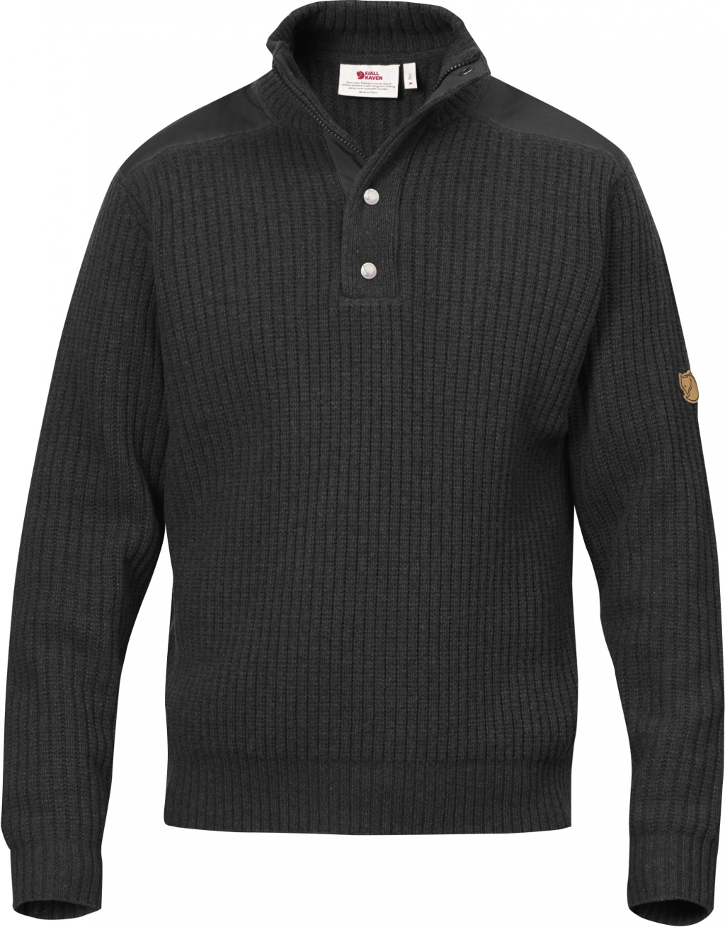 FjallRaven Varmland T-neck Sweater Dark Grey-30