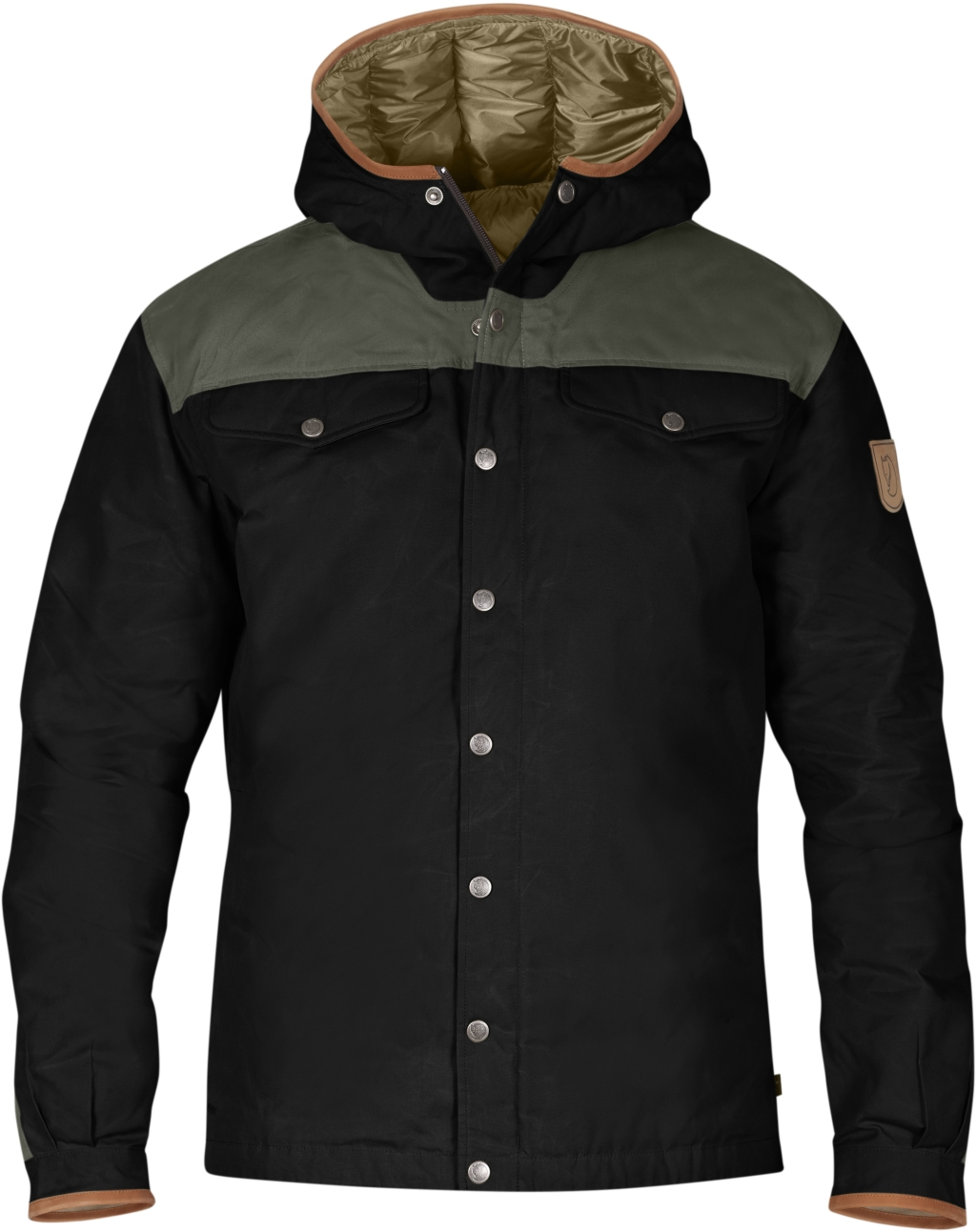FjallRaven Greenland No.1 Down Jacket Black-Mountain Grey-30