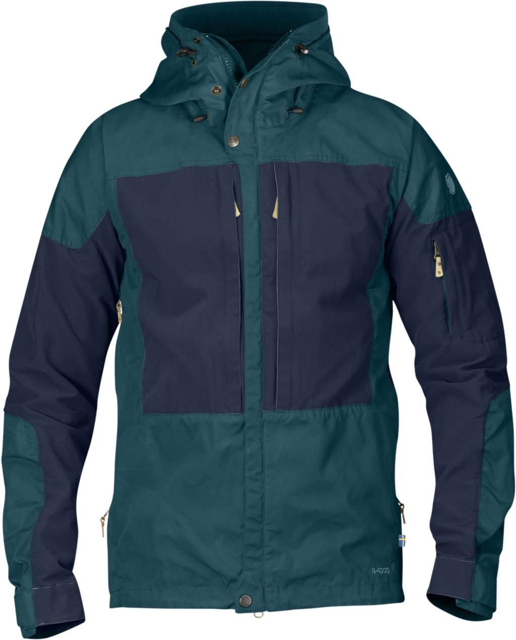 FjallRaven Keb Jacket Glacier Green-Dark Navy-30