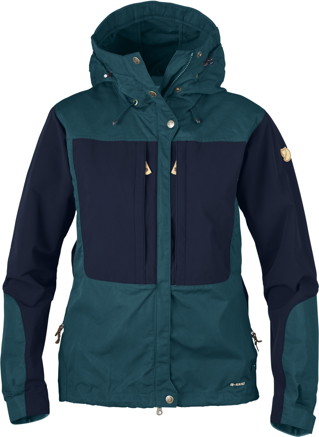 FjallRaven Keb Jacket W. Glacier Green-Dark Navy-30