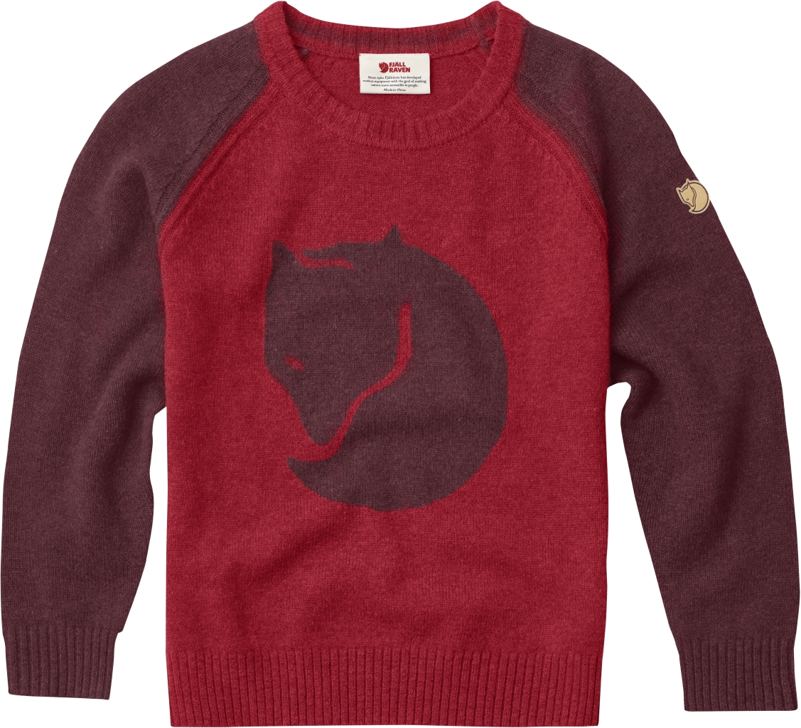 FjallRaven Kids Fox Sweater Dark Garnet-30