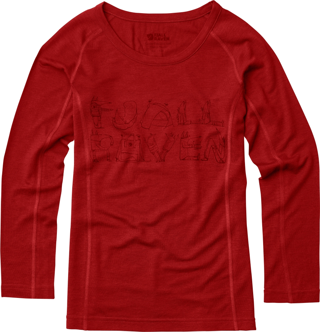 FjallRaven Kids Trail Top LS Red-30