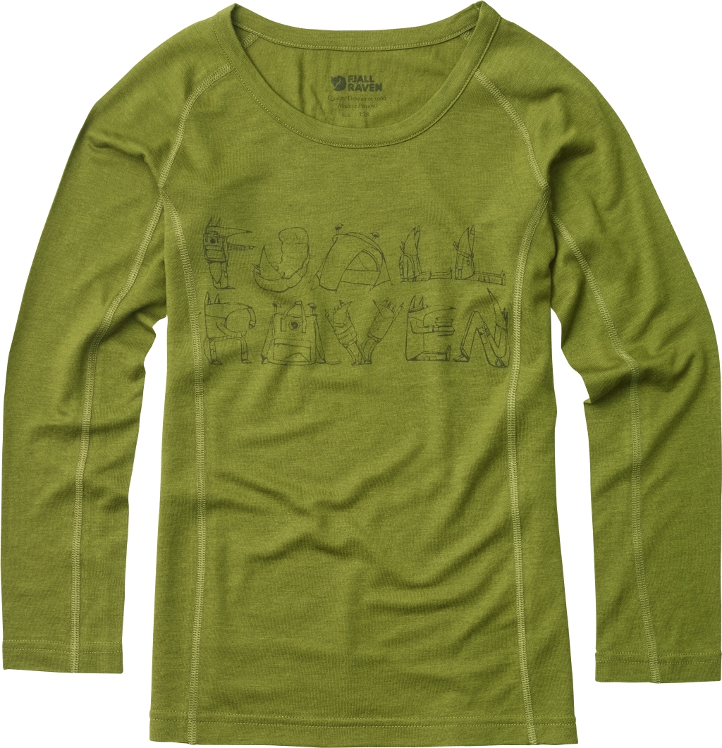 FjallRaven Kids Trail Top LS Avocado-30