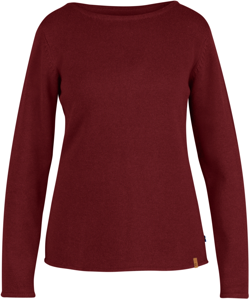 FjallRaven Kiruna Knit Sweater W Ox Red-30