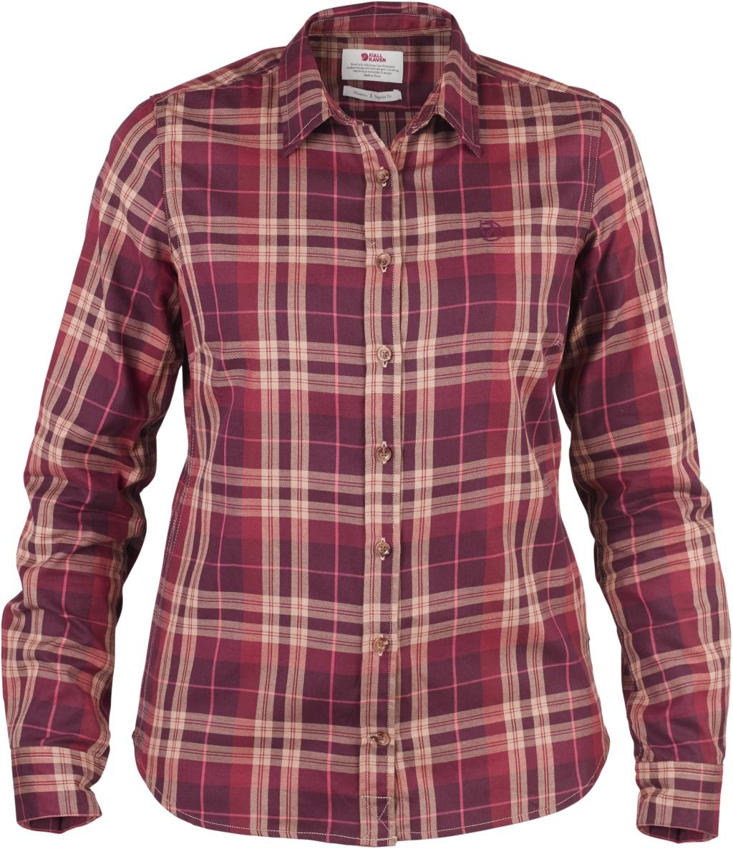 FjallRaven Ovik Flannel Shirt W Dark Garnet-30