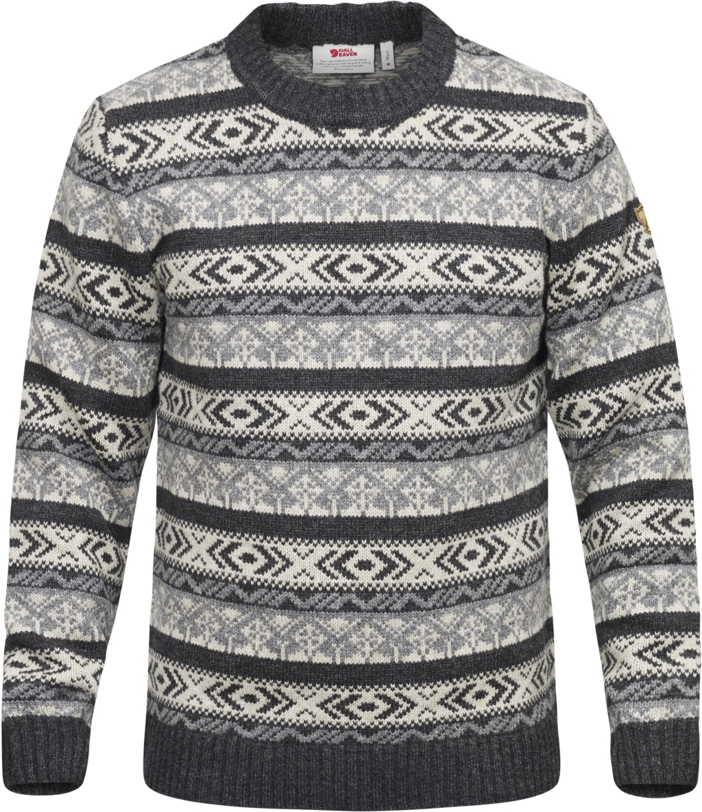FjallRaven Ovik Folk Knit Sweater Dark Grey-30