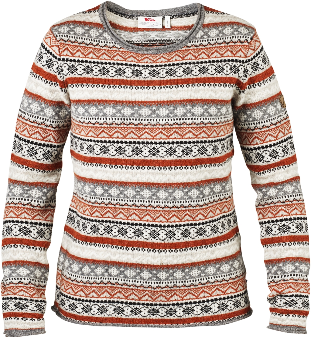 FjallRaven Ovik Folk Knit Sweater W Fog-30