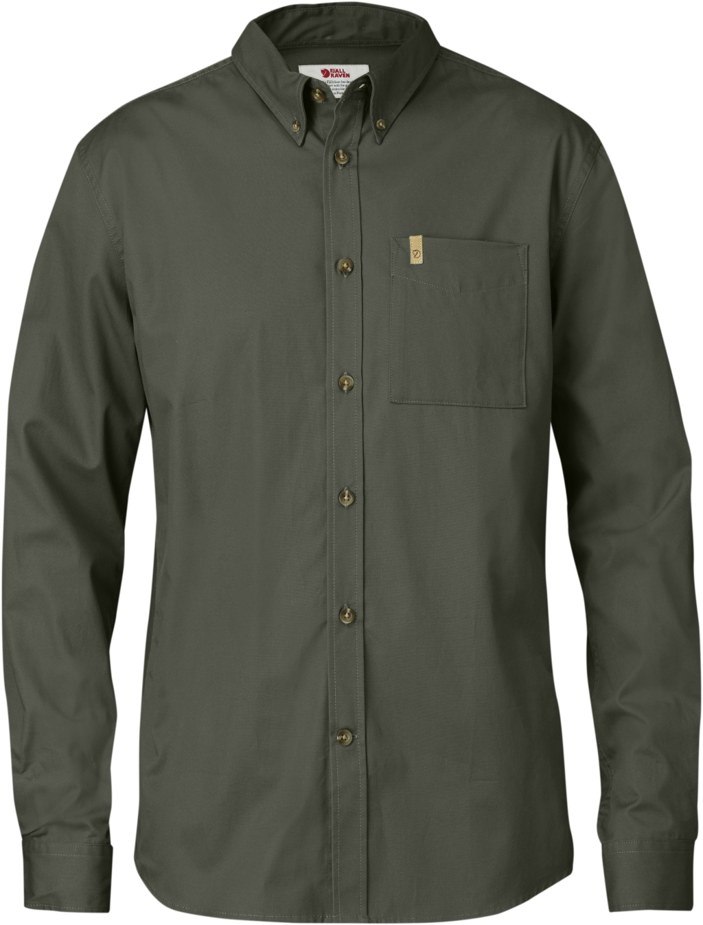 FjallRaven Ovik Solid Twill Shirt LS Mountain Grey-30
