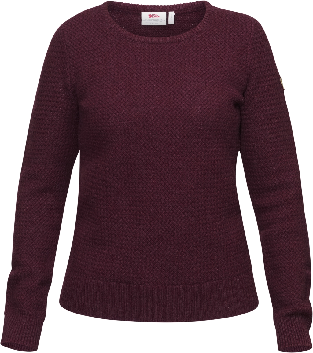 FjallRaven Ovik Structure Sweater W Dark Garnet-30