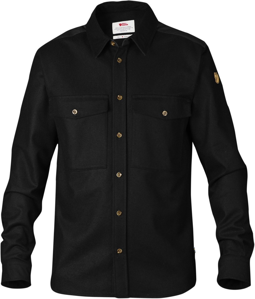 FjallRaven Ovik Wool Shirt Black-30