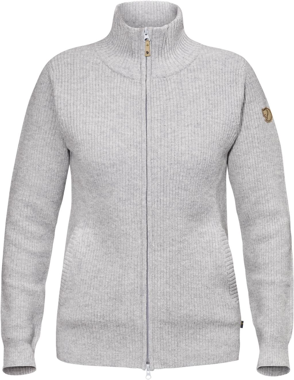 FjallRaven Ovik Zip Cardigan W Light Grey-30