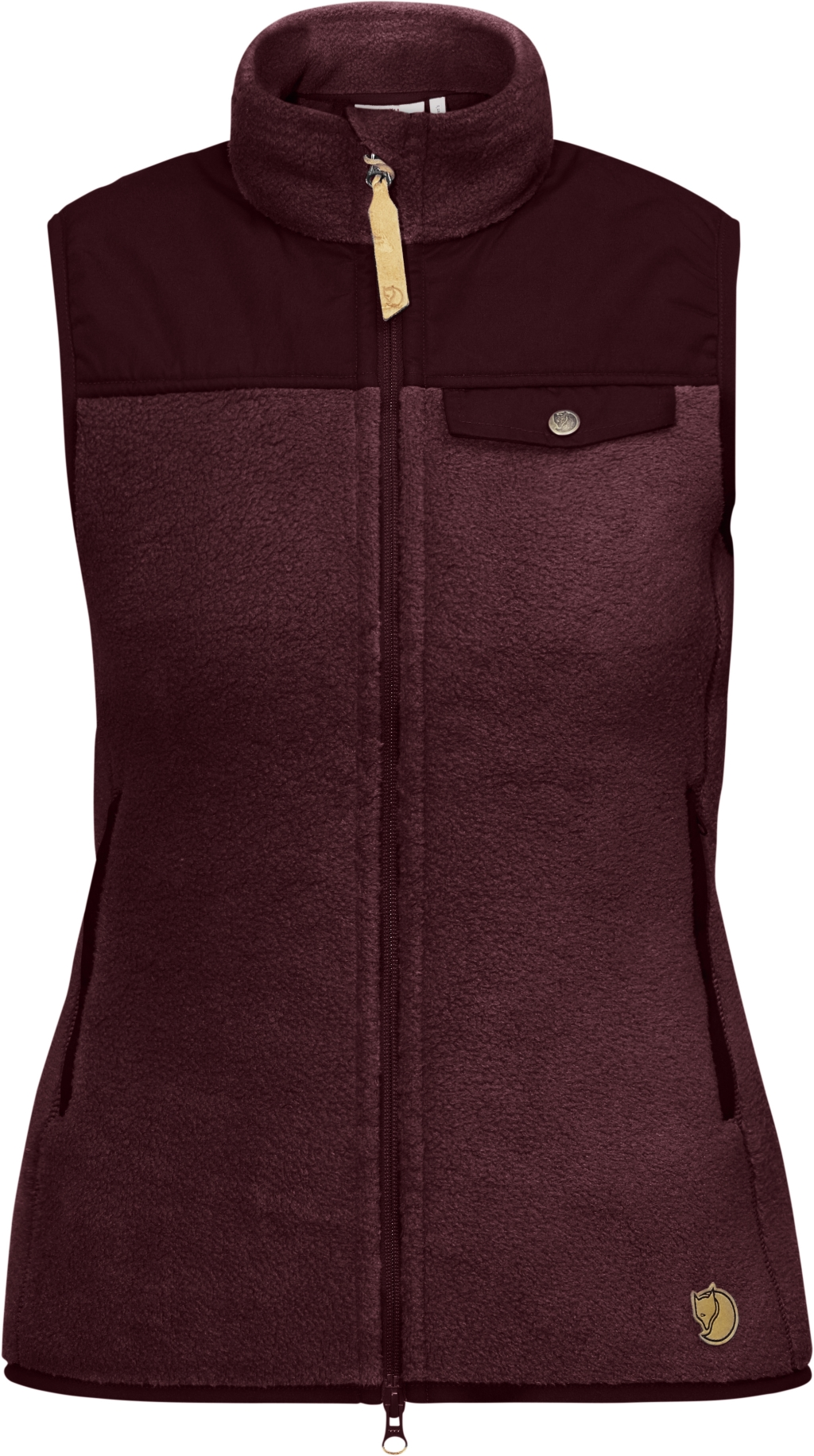 FjallRaven Singi Fleece Vest W Dark Garnet-30
