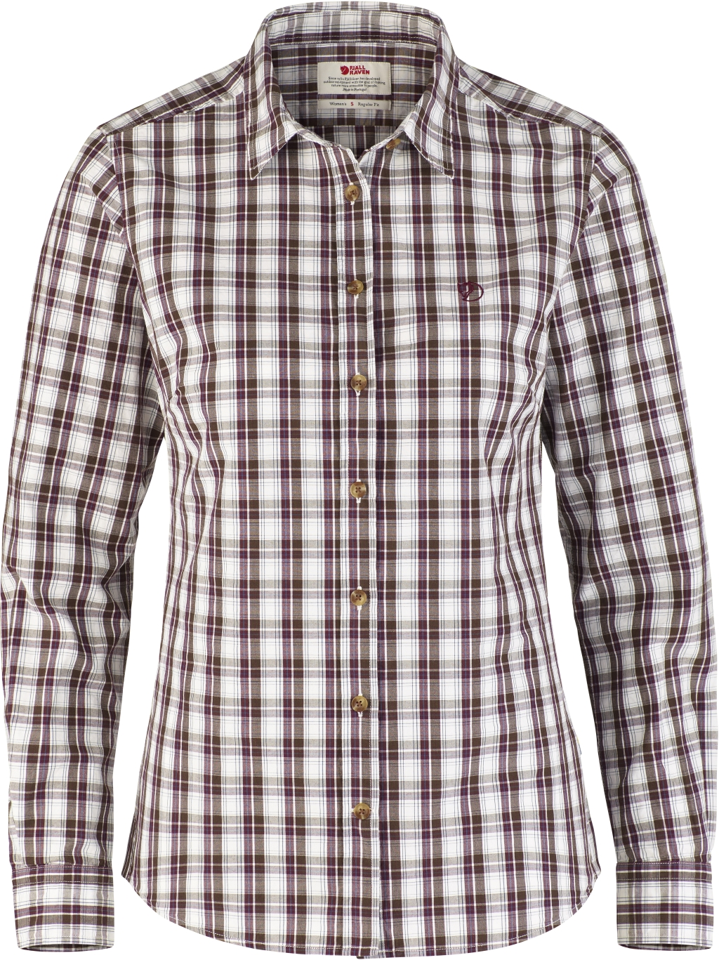FjallRaven Sormland Shirt LS W Dark Garnet-30