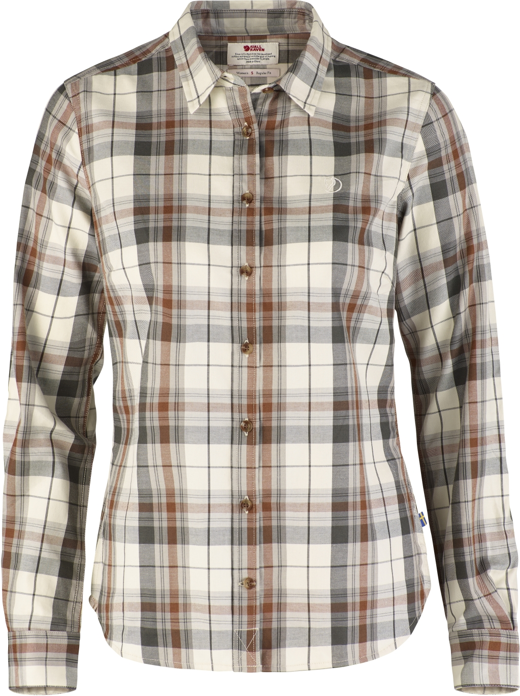 FjallRaven Ovik Flannel Shirt W Chalk White-30