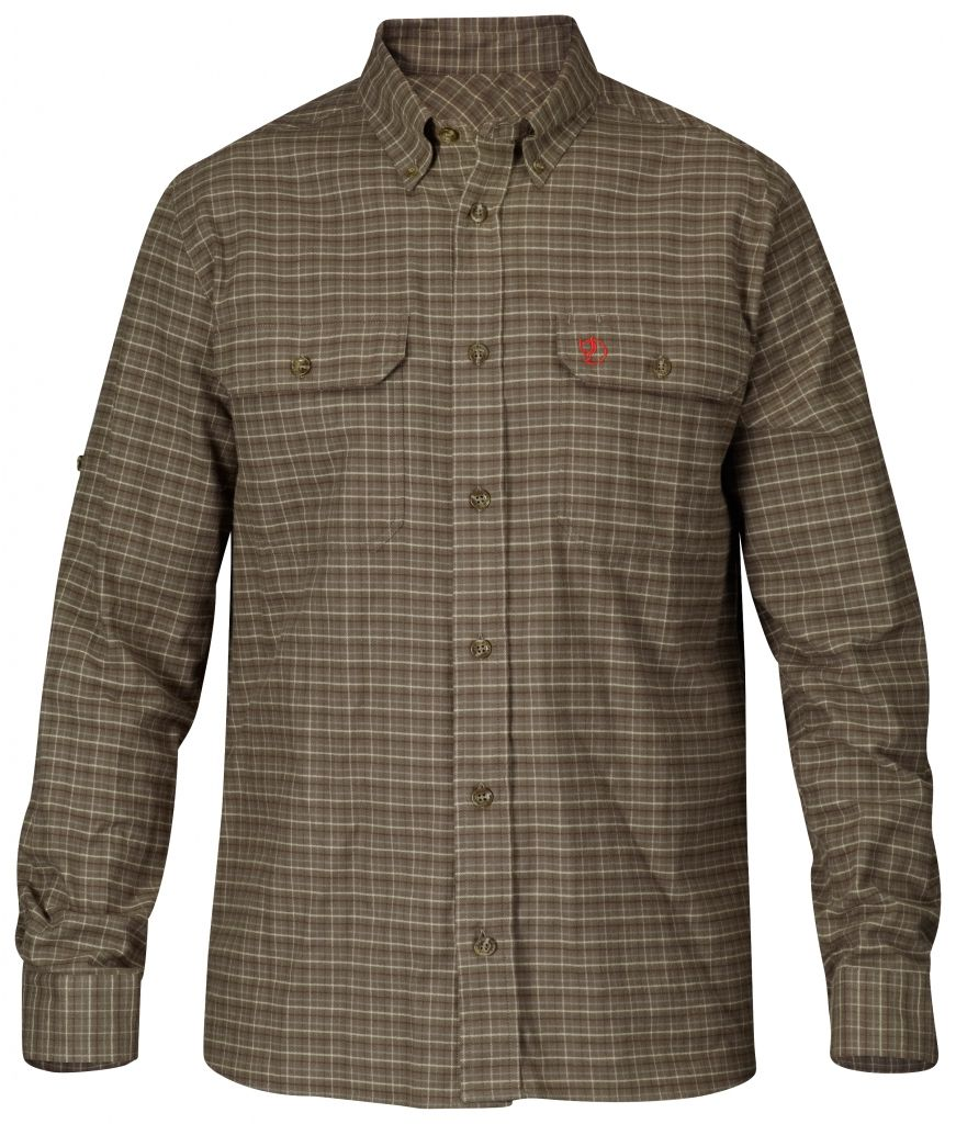 FjallRaven Forest Flannel Shirt Dark Olive-30