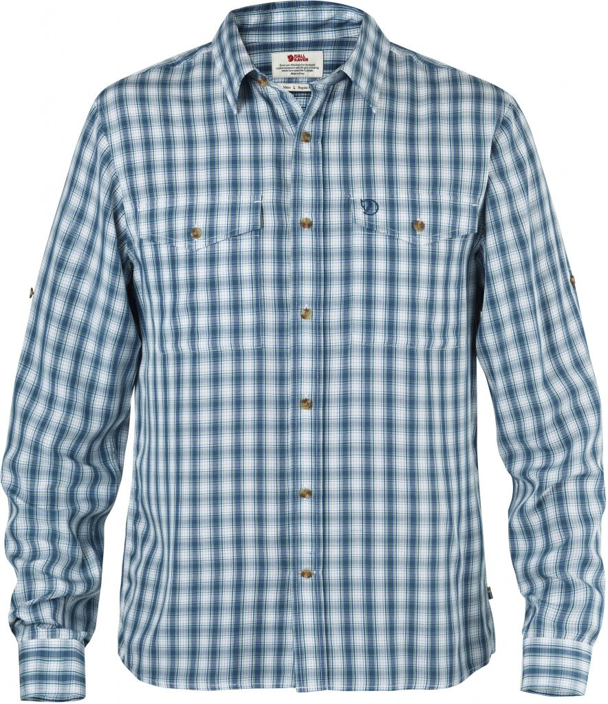 FjallRaven Abisko Cool Shirt LS Lake Blue-30