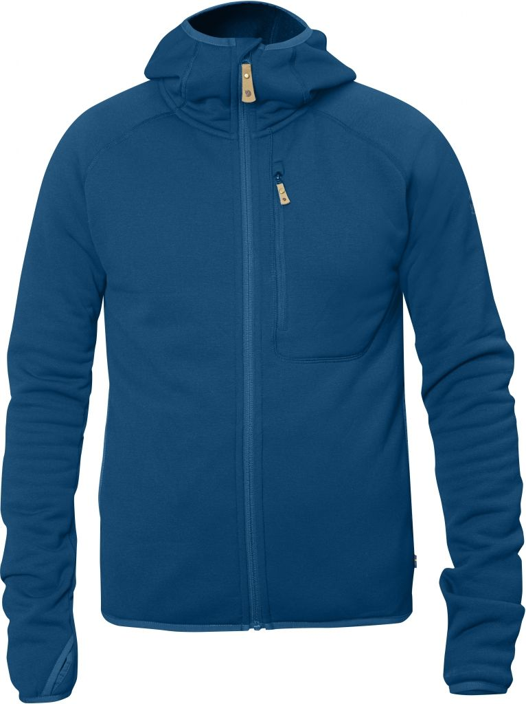 FjallRaven Abisko Fleece Hoodie Lake Blue-30
