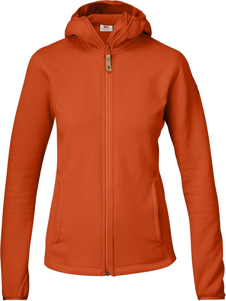 FjallRaven Abisko Fleece Hoodie W Flame Orange-30