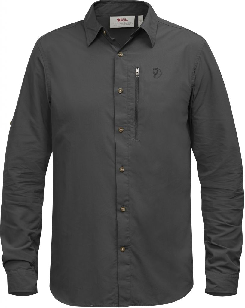 FjallRaven Abisko Hike Shirt LS Dark Grey-30