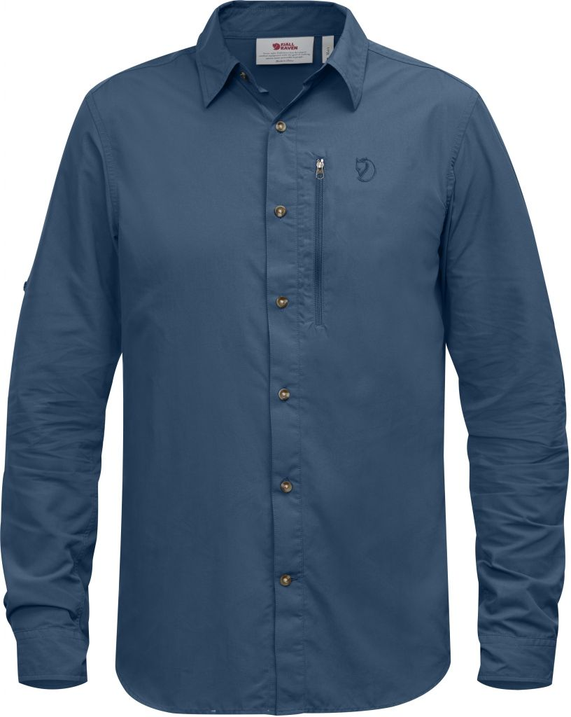 FjallRaven Abisko Hike Shirt LS Uncle Blue-30