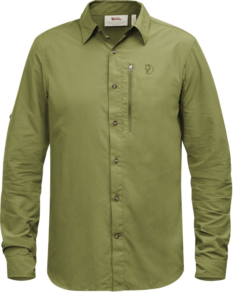 FjallRaven Abisko Hike Shirt LS Meadow Green-30