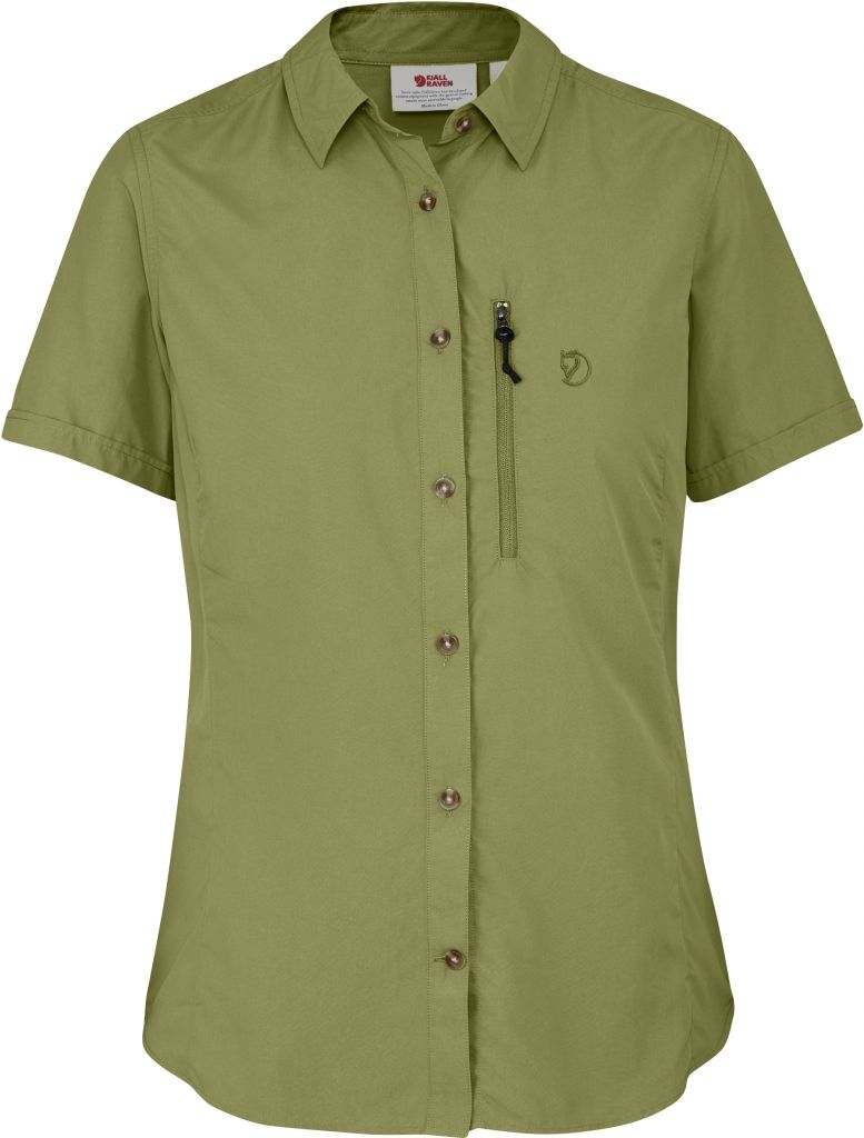 FjallRaven Abisko Hike Shirt SS W Meadow Green-30