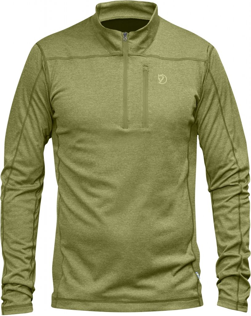 FjallRaven Abisko Vent Zip T-Shirt LS Meadow Green-30