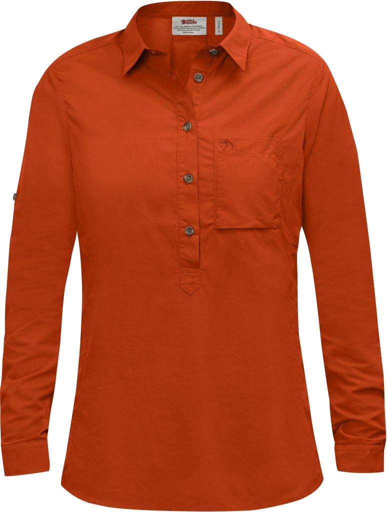 FjallRaven High Coast Shirt LS W Flame Orange-30