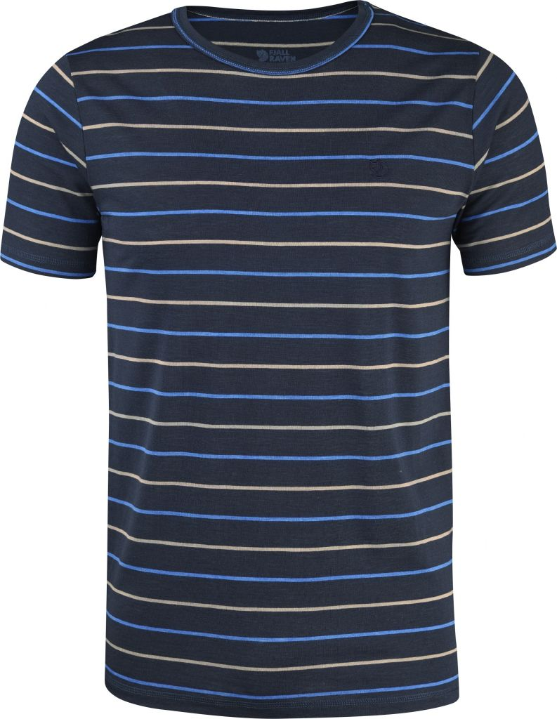 FjallRaven High Coast Stripe T-Shirt Navy-30
