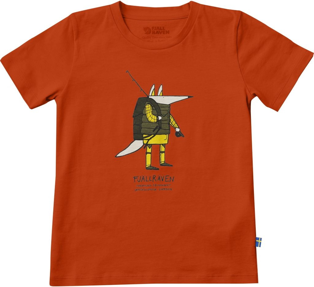 FjallRaven Kids Trekking Fox T-shirt Flame Orange-30